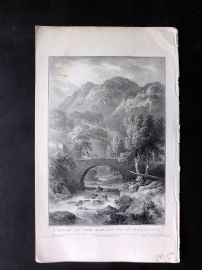 Gilly 1831 Antique Print. Bridge of The Hamlet of Margarita, Italy